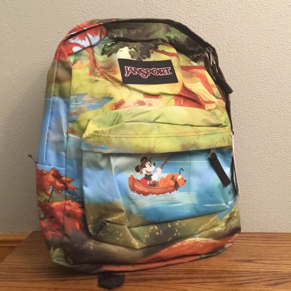 ee58c17ddcf Mickey Mouse   Pluto Disney Backpack Fishing Boat